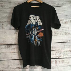 Vintage Star Wars Soft Black Tee size Medium - P-05